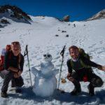 První letošní sněhulák, cestou na Schesaplana