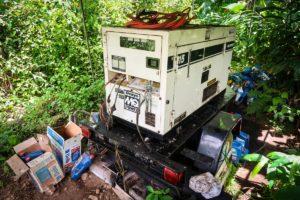 Pralesní elektrárna - dieselgenerátor Kubota Whisperwatt